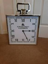 Fabulous Very Large Chrome Mantle Clock Brand New