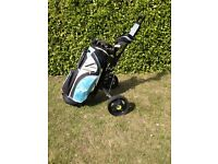 Set of Ladies Golf Clubs, Bag and Trolley