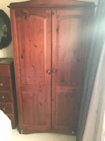 Large Dark Wood Wardrobe IKEA