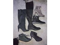 6 pairs ladies size 6 shoes/boots