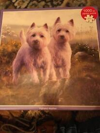 1000 piece highland terrier puzzle BNIB