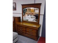 Antique Chest of Drawers (8 Drawers ) with Mirror GF078