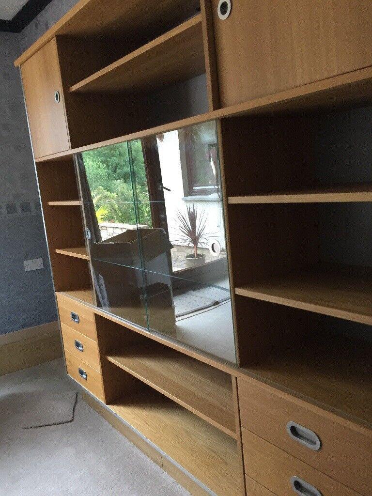 OAK Living Room Dining Display Cabinet Sideboard
