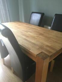 Dining table and chairs from homebase