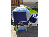 Graco Sport Travel Playpen with Detachable Hood and carry bag