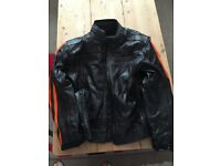 UNBRANDED ARMOURED LEATHER/PADDED MOTORCYLE / BIKE JACKET LARGE- HEAVY DUTY! NEVER WORN/NEW