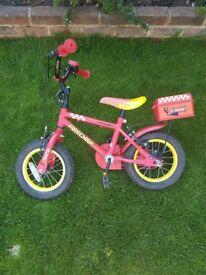 "Fire Chief Bike 12"" wheels"