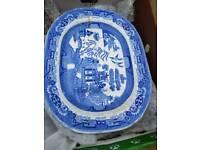 Platter blue Willow meatdish