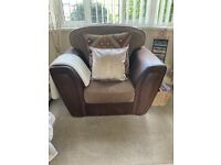 Large brown armchair