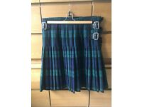 "Black watch kilt 36-38""waist, also PC jacket and waistcoat , excellent condition size 40-42"""
