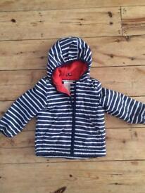 Mini boden fleece lined coat 3-4