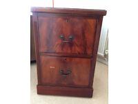 2 drawer filing cabinet- maghogany finish