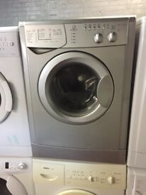 nice silver indesit washing machine it's 6kg 1400 spin in excellent condition in full working order