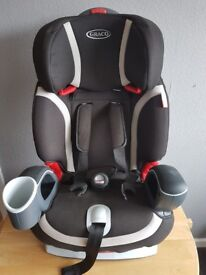 GRACO KIDS CAR SEAT 5-point harness from 9-18kg then converts to a belt-positioning booster 15-36kg.