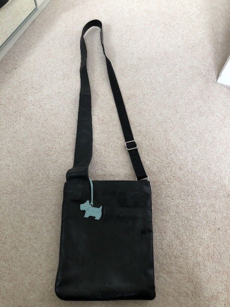 New Handbag Radley Black Leather Pocket Bag Cross Body