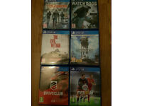 Bundle Ps4 Games.In great condition, Separate or bundle,