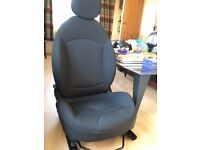 Limited edition JCW chequered fabric BMW Mini R56 interior seats front and rear