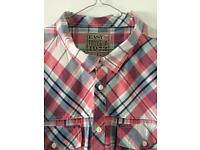 Men's EASY 3xl Short Sleeved Checked Shirt Pink White Navy Blue Ideal For Summer Holiday