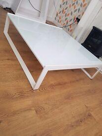 High gloss glass coffee table