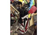 Full Set Of Golf Clubs Powakaddy trolley bag
