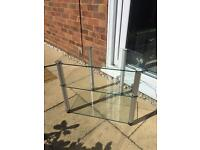 Two tier Glass TV stand