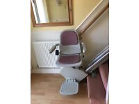 Acorn Stairlift for sale. In excellent condition. A straight rail, 12 steps high