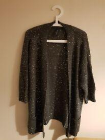 Marisota Womens Grey Sequined Cardigan Size 20/22