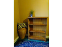 Solid oak vintage bookcase - DIY - partly sanded for refinishing
