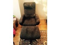 Furniture village chair with stool