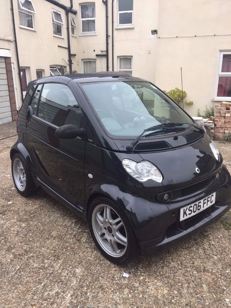 smart fortwo brabus 2006 rare cabrio with fsh in black in wood green london gumtree. Black Bedroom Furniture Sets. Home Design Ideas