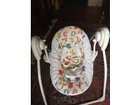 Swing baby chair with music and motion (batteries)