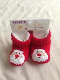Baby Christmas booties