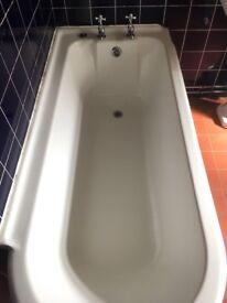 Roll top shower bath