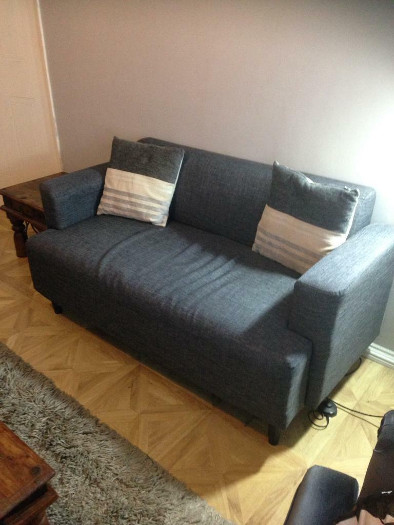 Dark grey two seater sofa & cushions £45 collect Fareham Po15 SOLD