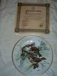 SET OF 8 EUROPEAN SONGBIRD PLATES WORLD WILDLIFE FUND (GERMAN) London Ontario image 3