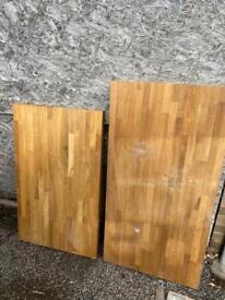 Oak worktops