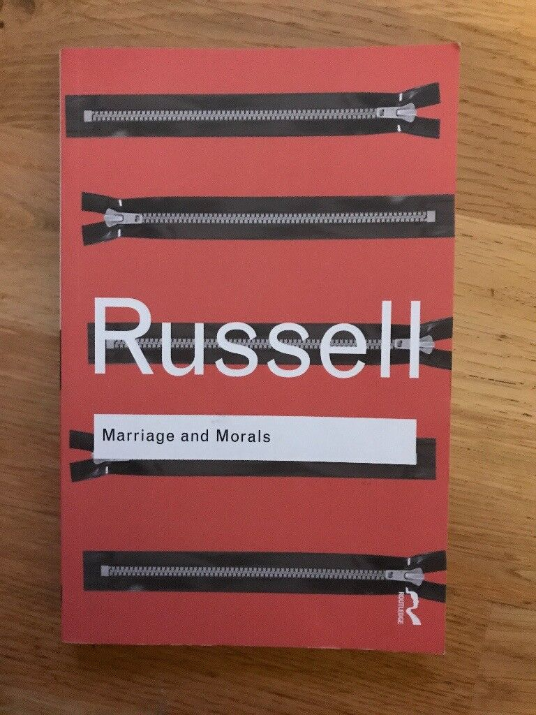Book - Marriage and Morals - Bertrand Russell