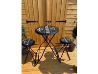 Folding table bar stool set