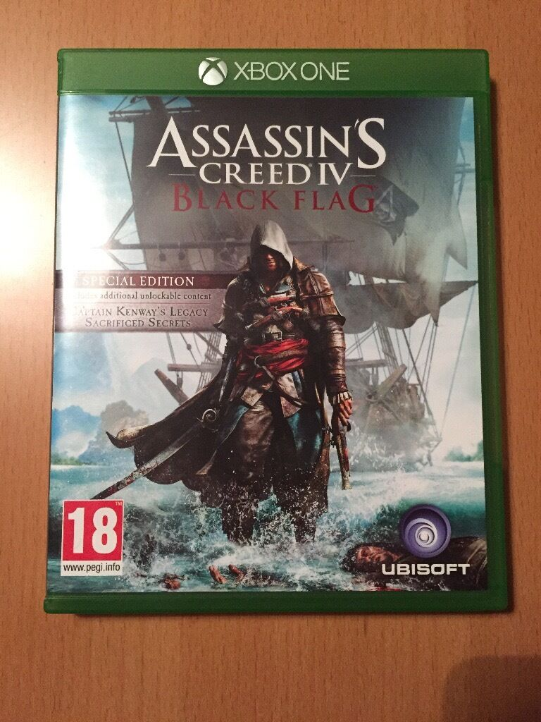 Assassins Creed 4 Black Flag, Assassins Creed Unity, Assassins Creed Syndicatein Leek, StaffordshireGumtree - Assassins Creed 4 Black Flag, Assassins Creed Unity and Assassins Creed Syndicate for Xbox One. All games are pre owned but in good condition. Selling Prices Assassins Creed 4 Black Flag £10.00 Assassins Creed Unity £10.00 Assassins Creed Syndicate...