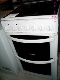 hotpoint free standing cooker ceramic hobs
