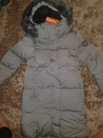Brand new Superdry Parka Coat. Size 12. Still has labels. Paid £130