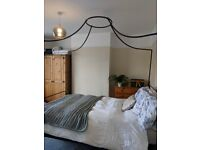 Four poster King size bed. White company Beaumont Bed Frame.
