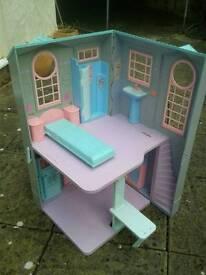 Barbie townhouse and 12 dancing princesses castle