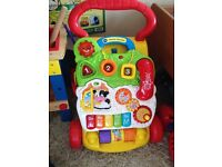 Baby vtech first steps baby walker multicoloured