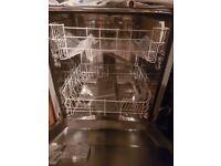 Lamona Integrated Dishwasher and under counter fridge for sale