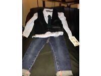 Mamas & Papas shirt & jeans suit