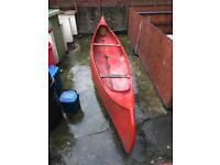 Open Canadian Fibreglass Canoe