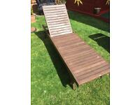Wooden Sun Lounger.
