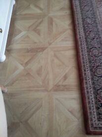 Quality B&Q parquet laminate flooring. 12mm, AC5 wear