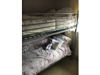 Silver metal bunk beds